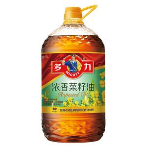 【天貓超市】多力 濃香菜籽油 5L 非轉基因 壓榨四級 食用油