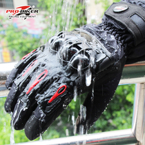 Winter Motorcycle Hand Riding equipment waterproof cold anti-fall Knight locomotive windproof thickening plus velvet warm gloves