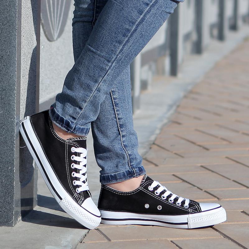 白色帆布鞋女韩版学生