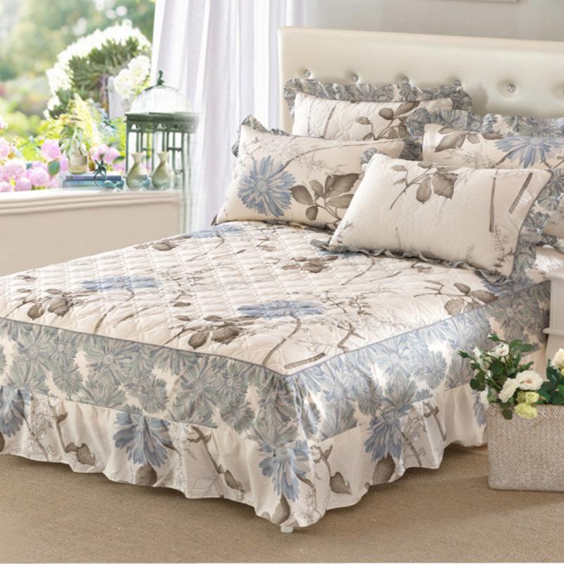 純棉夾棉單件床罩床裙式加厚保護套1.5米1.8m雙人2.0全棉床套床群