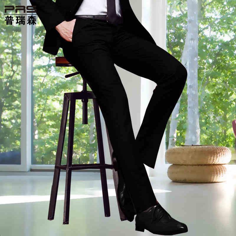 Puruisen новый мужской легкий уход западе осенью и зимой долго бизнес молодой корейской версии тонкий брюки отдыха брюки
