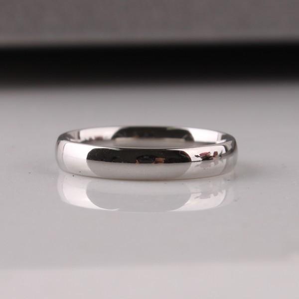 包邮银色光板钛钢戒指尾戒男女戒3mm