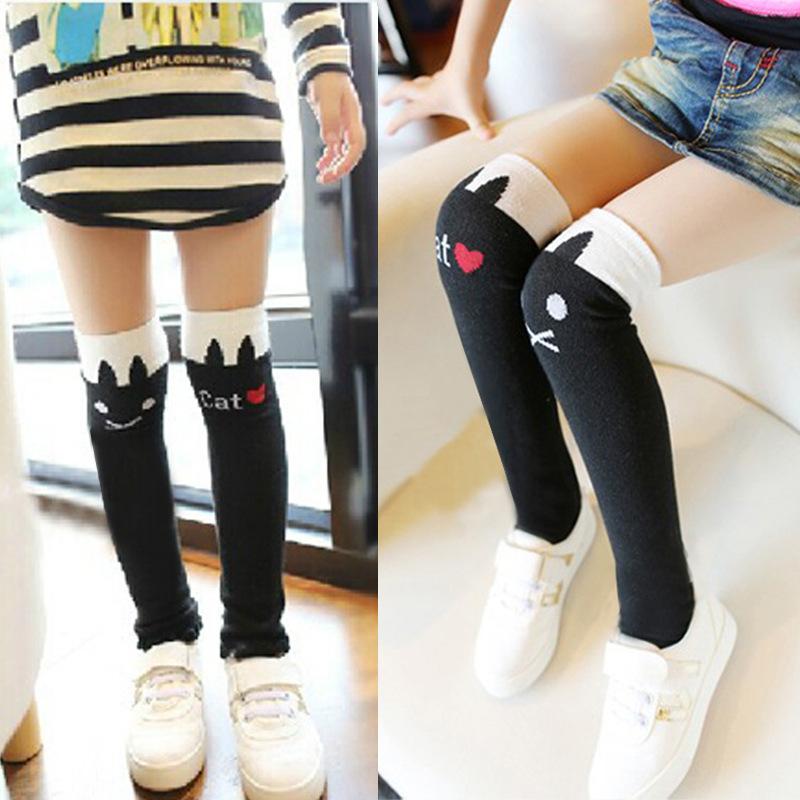 Детская одежда Осень 2015 новый Корея дикий ребенок трубки груды носки кошки, которые дети делают носки девушки чулки
