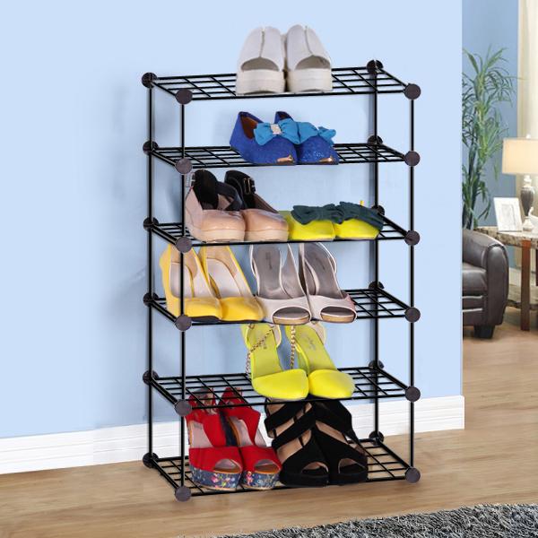 簡易 式鐵藝多層鞋架家用客廳宿舍陽台落地置物收納架小型儲物
