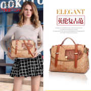 2016 new Korean female package Map Pack laptop shoulder Messenger Bag Lady bag College wind vintage Messenger bag