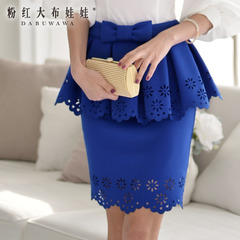 Skirt pink dolls 2015 summer dress new fashion skirt women's packs hip belt skirt skirts