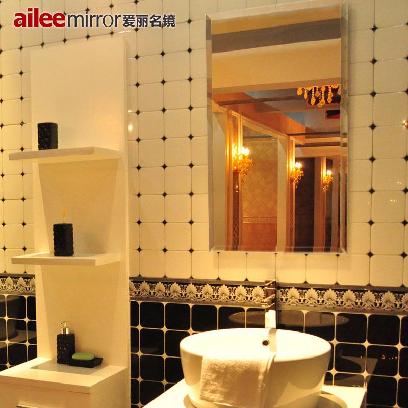 高清無框浴室鏡洗手間防霧衛浴鏡玻璃方形衛生間鏡子壁掛訂做定製