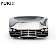 YUKI men''s European and American fashion creative titanium steel ring finger ring design fashion front defensive ring