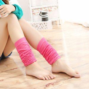 花潮花汐日系春秋泡泡棉堆堆袜中筒袜过膝袜套糖果色打底袜子女