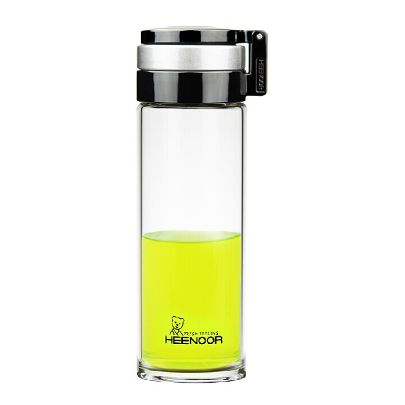 希諾單層玻璃杯 水杯車載便攜泡茶過濾網695ML