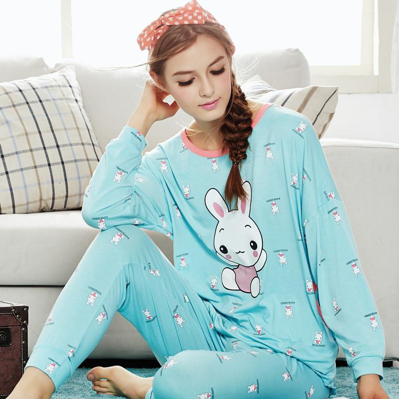 Симпатичные Весна женские длинный рукав пижамы, пижамы и loungewear носить пижамы увеличилась хеджирования Pajama девушка спец по электронной почте
