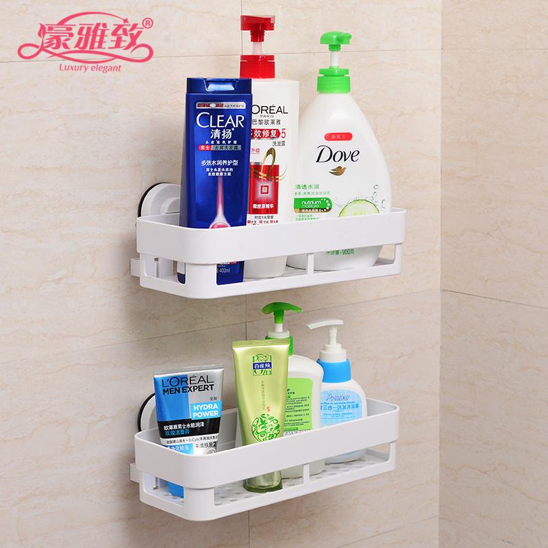 浴室吸盤置物架 衛生間吸壁式置物架壁掛免打孔洗手間廁所化妝品