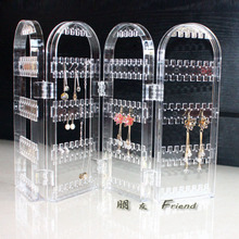 Package mail transparent crystal earrings display shelf Receive jewelry wearing jewelry earring receive box ornaments hanging rack