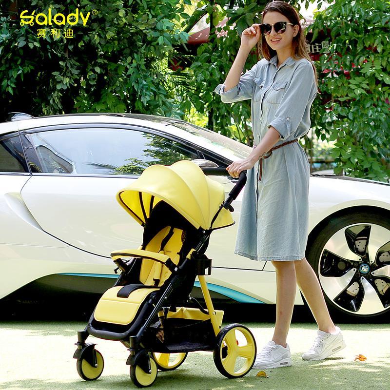 Легкий ребенок тележки может сидеть лечь ребенок тележки портативный ребенок тележки сложить ребенок автомобиль четыре сезона универсальный