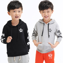 Children's fleece jacket in the spring and autumn with long sleeve head hoodie baby boy fall clothing han edition of child hoodie