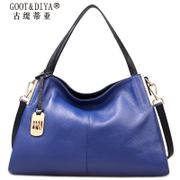 Gu Ti di Asia leather bag 2015 new fashion trends for fall/winter wild contrast color shoulder bag Messenger bag