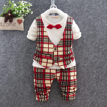 Autumn outfit new boys long suit infants ma3 jia3 leisure two or three times the 1-2-3 - year - old baby suit