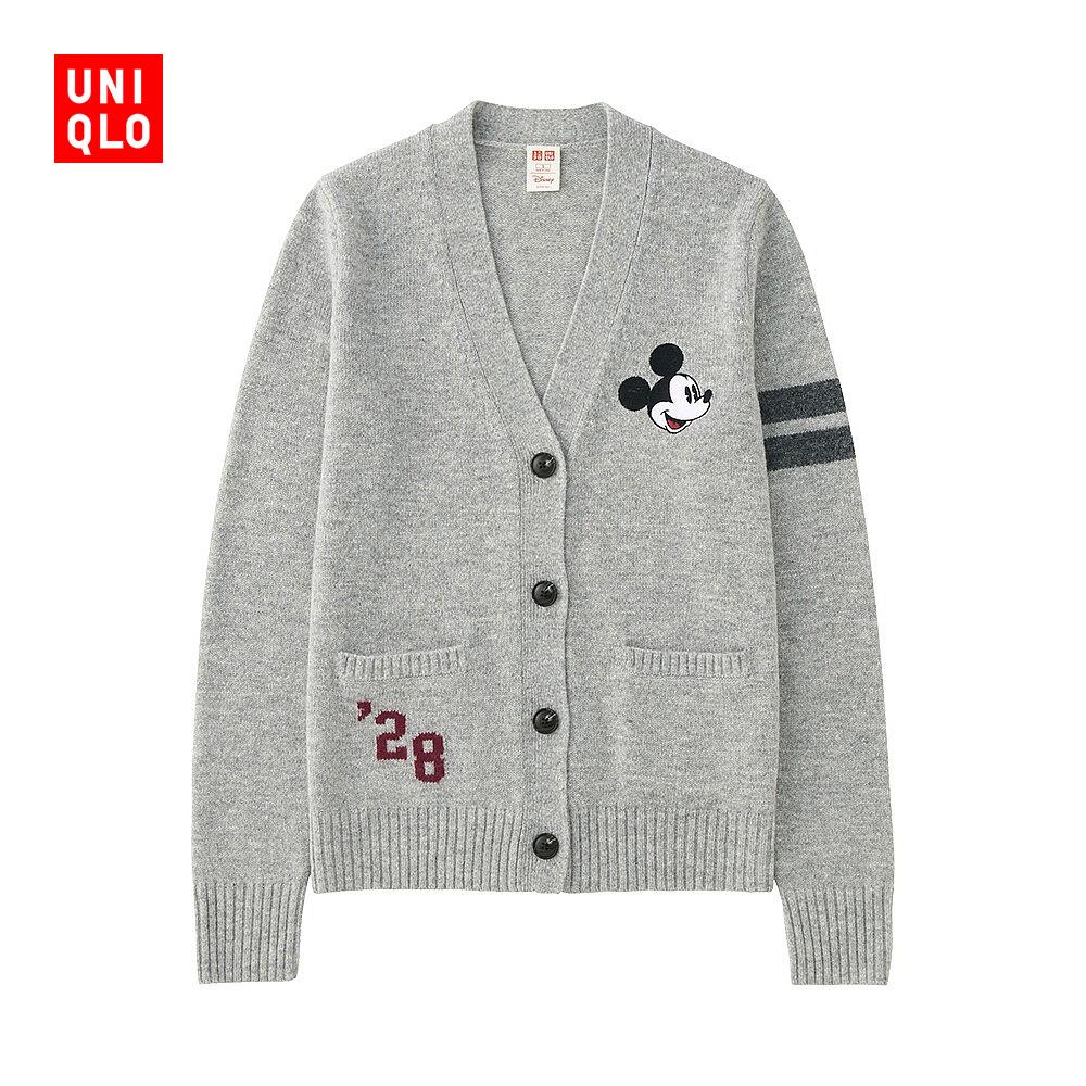 女裝 ^(UT^) DPJ 羊仔毛混紡V領開衫^(長袖^) 180086 優衣庫UNIQL