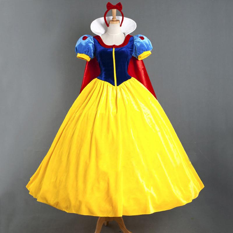 2020圣诞节服装成人白雪公主裙舞台演出cosplay服装 含披风送头饰