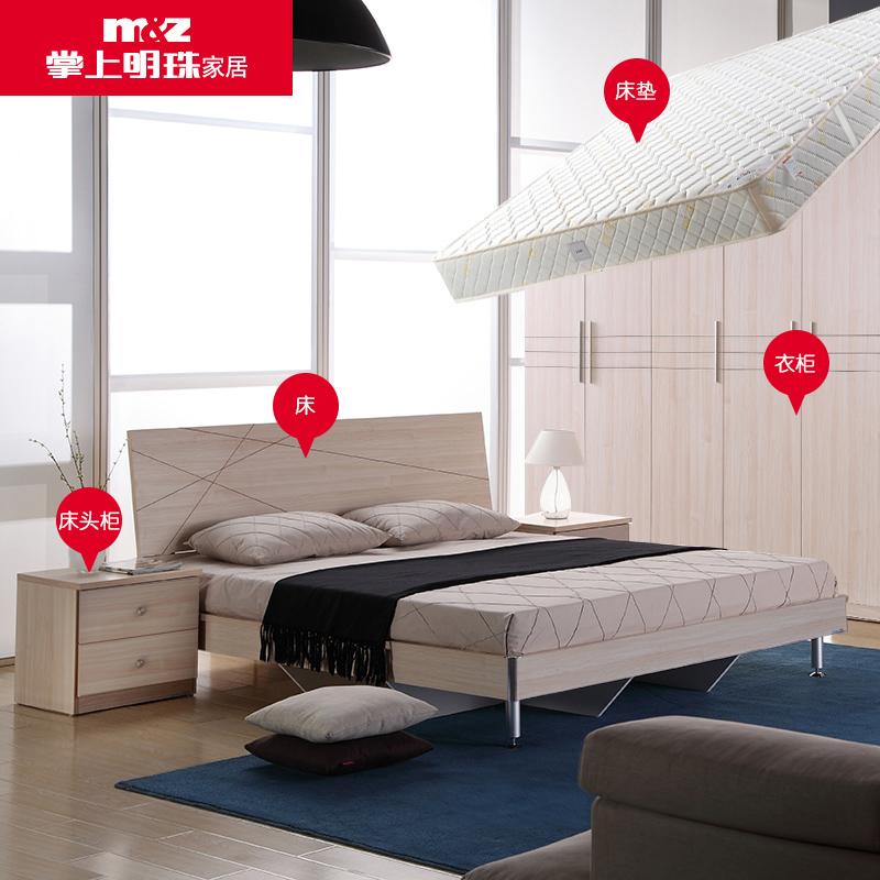 Пальма на жемчужина мебель пластина современный простой 1.8 3м кровати первый кабинет гардероб матрас спальня сочетание