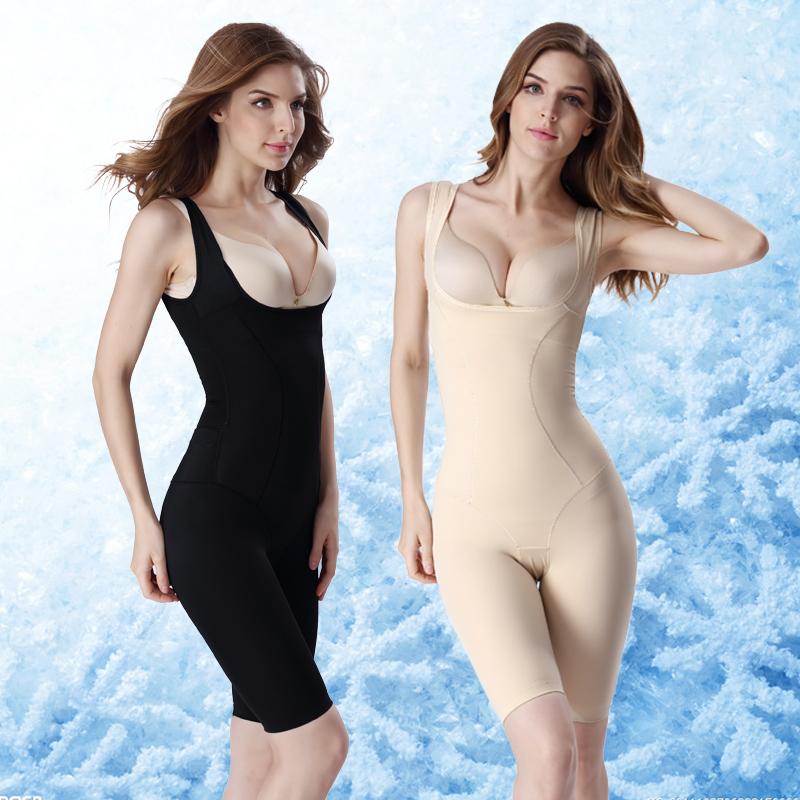 冰丝薄款后脱式塑身内衣连体美体衣产后燃脂减肚子收腹瘦身束身衣