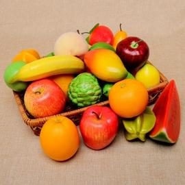 仿真水果蔬菜模型橱柜超市家居水果店铺装饰摆件儿童玩具幼教道具