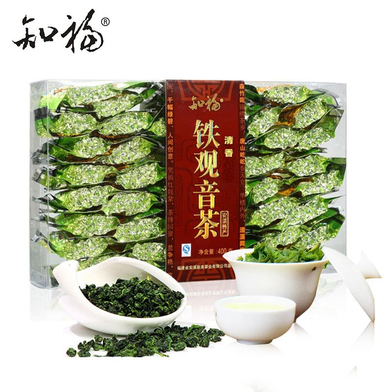知福茶叶 安溪铁观音 清香型乌龙茶 盒装400g超大份量粒粒香铁观音茶