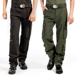 户外工装裤男军迷野战服饰纯棉直筒战术裤宽松军裤特种兵军绿黑色