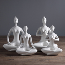 Ceramic Yoga characters send friends Yoga Hall opening gifts modern simple home living room decorations Decoration