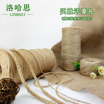 Natural Yellow hemp Thread Yellow Hemp Rope tag bundled goods handmade DIY accessories around the bottle handicraft lighting decoration