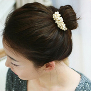 Know Richie new hair jewelry ladies jewelry hand-made beaded Pearl hair rope ring elastic hair band Korea
