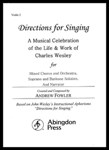【预售】Directions for Singing - Violin 2: A Musical Cele
