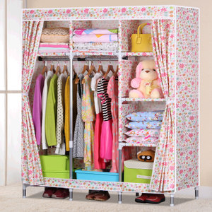 A large cloth wardrobe Strengthen the 25 mm steel pipe bold