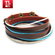 Wings Chinese-style men''s leather jewelry bracelet Korean boys fashion cortex prepared woman leather cord