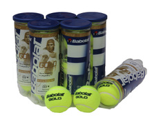 Three barrels pack mail treasure force Babolat tennis best protect force GOLD plastic jar three grain of tennis training a ball game
