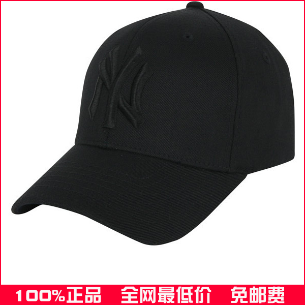 Korea MLB All Black Yankees baseball cap Free shipping authentic NY Yankees  cap stock that day hair Miao RE - Taobao Depot 41bee8e5c