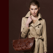 Female header layer of leather 2015 long original, beautiful new luxury leather handbag for mother's day flowers