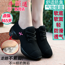Bull Bully Dance Shoes summer net face sailor Dance shoes soft bottom adult new square dance shoes womens 5595