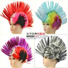 子供たちのクリスマスパーティードレスかつらショー用品の色かつらファンかつら毛の櫛の髪の色