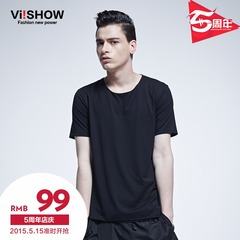 Viishow2015 summer dress new short sleeve t-shirt in Europe and basis plus size solid color short sleeve t-shirt at the end of the tide