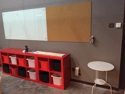 包邮 钢化纯白玻璃白板磁性挂式办公写字板黑板移动白板支架式