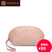 Honggu Hong Gu counters authentic 2015 new style fashion leisure cowhide lace ladies clutch bag 2377