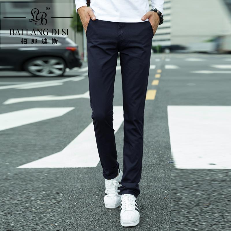 Осень новый стиль мужской случайных брюки, мужские прямые ноги тонкий корейский мужской бизнес случайных плюс размер длинные брюки для почты