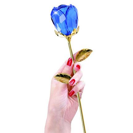 镀金水晶玫瑰花