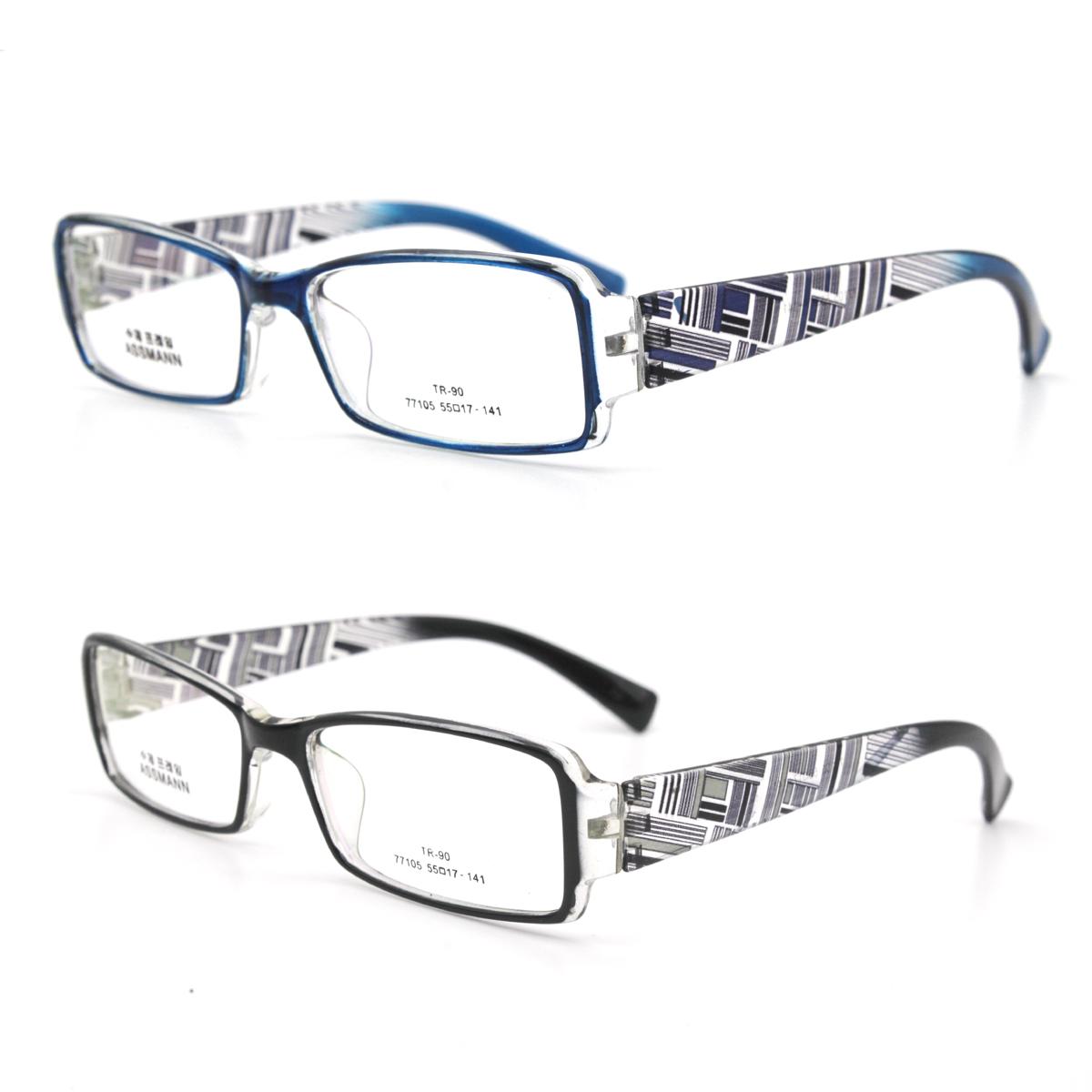 tr90眼镜框  男式女 款 大柜 透明花纹宽腿 可配近视 老花眼镜架