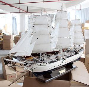 木质帆船模型木制工艺品摆件创意家居装饰品摆设欧式风格一帆风顺
