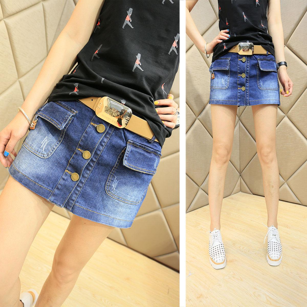 к 2015 году Новая летняя юбка плюс размер джинсовые шорты женщина жира mm тонкий юбка Корейский короткие шорты юбки носить Тайд