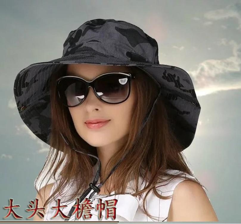 帽子男大碼防曬帽戶外男女盆帽夏天遮陽帽迷彩漁夫帽奔尼帽釣魚帽