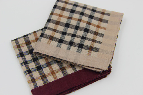 Handkerchief package mail 80 thread count fine cotton soft cotton handkerchief classic British checked mens cotton pure cotton with fresh quality