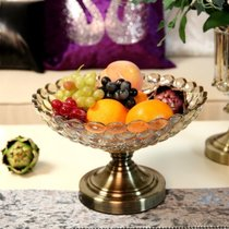 Neoclassical model room Fruit tray Decoration creative European glass Fruit basket Decoration Decoration